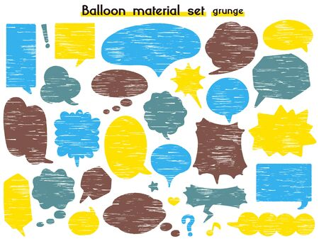 speech balloon material set(grunge)
