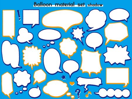 speech balloon material set(shadow)