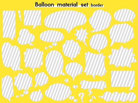speech balloon material set(border)