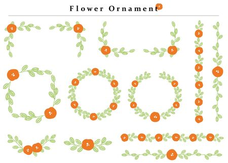 flower ornament set