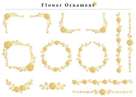 flower ornament set