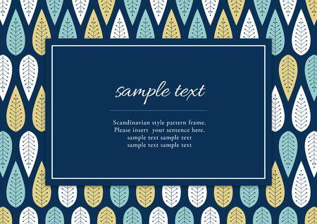Scandinavian style pattern frame Vektoros illusztráció