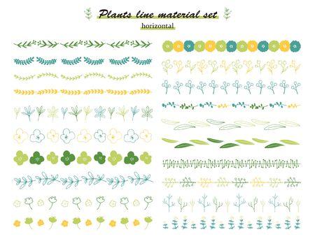 plant line set(horizontal) Illusztráció