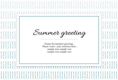 summer greeting card