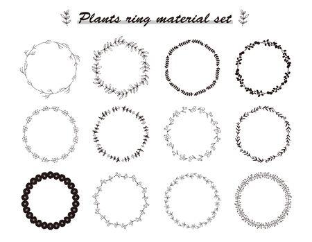 plant material set(ring) Vektoros illusztráció