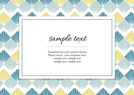 Scandinavian style pattern frame