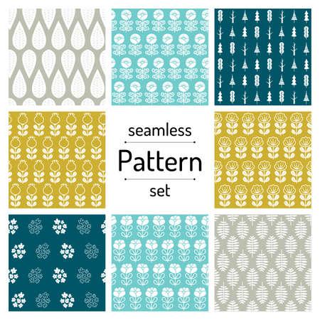 plant seamless pattern set