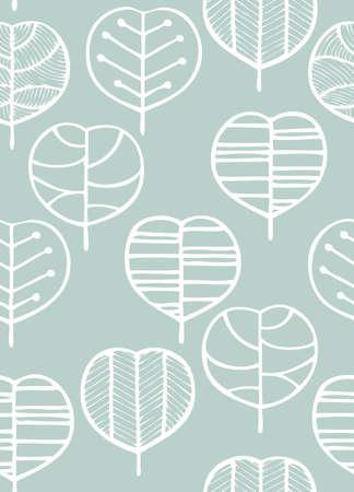 Scandinavian style seamless pattern(leaf)