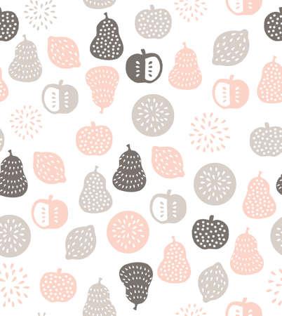 scandinavian fruits seamless pattern