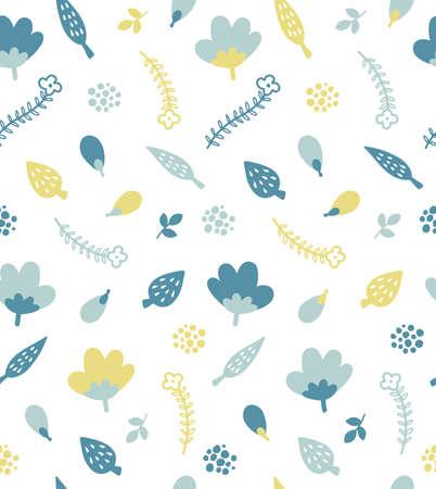 scandinavian plant seamless pattern
