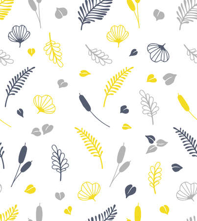 hand drawn plant seamless pattern Иллюстрация