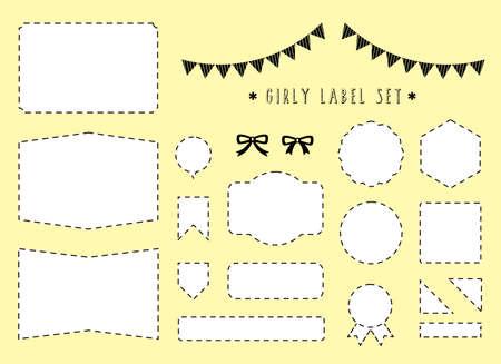 label material set