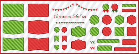 Christmas label material set