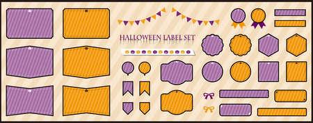 Halloween label material set