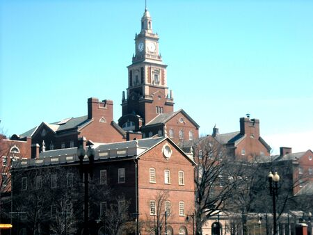 ri: Skyline of Providence Rhode Island at Brown University