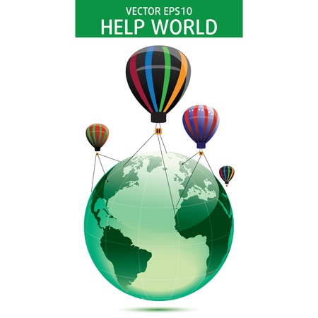 Globe of the world Illustration. Business concept