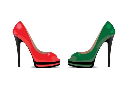 Ladies shoe illustration background