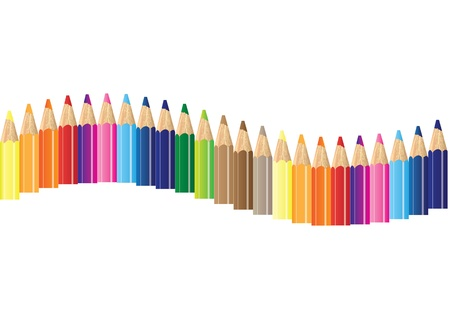 color pencils illustration background Vector