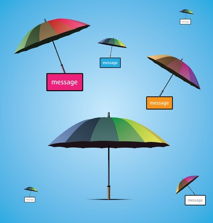 Coverage or Protection illustration background