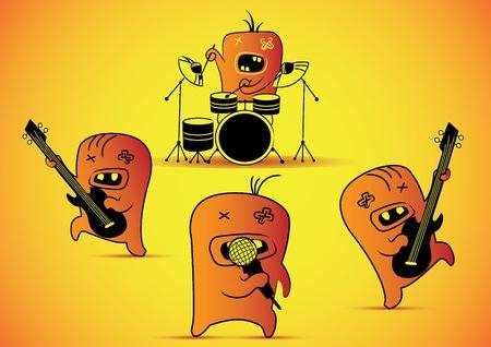 Illustration cute cartoon monster Illustration