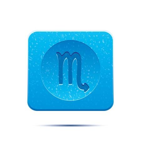 lion fish: Horoscope zodiac signs, illustration set buttons