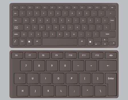 Keyboards black illustration background Illustration
