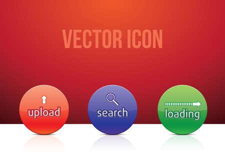 Icon set color illustration Illustration