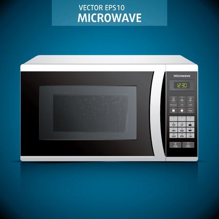 Four à micro-ondes. fond. illustration à micro-ondes