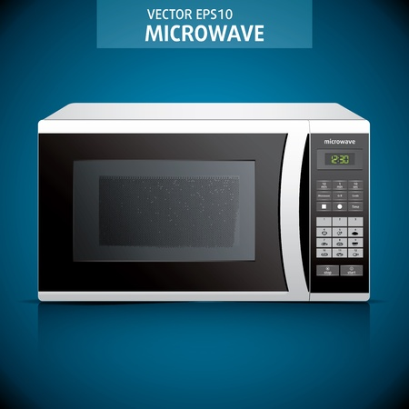 microwave oven. background. microwave illustration Vector