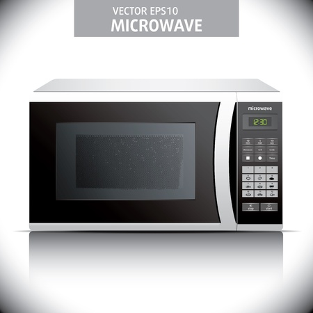 microwave oven. background. microwave illustration