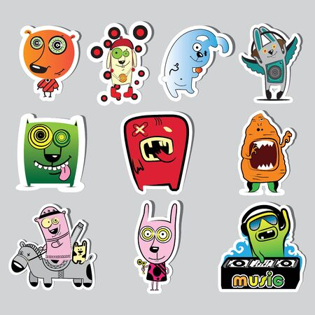 set of characters illustration Stock Vector - 13437633