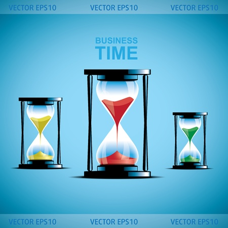 Hourglass collection. Sand watch. Business illustration Vector