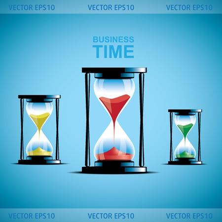 passing: Reloj de Arena colecci�n. La arena del reloj. Empresas ilustraci�n