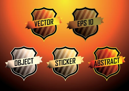 Labels illustration background Vector