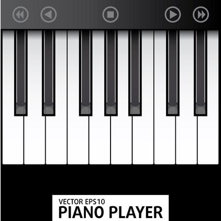 Simple Piano Claps illustration Stock Vector - 13437484