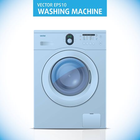 Closed washing machine on white background. Illustration Stock Vector - 13437903