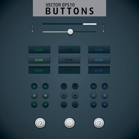 Web design elements set. Black Stock Vector - 13437469