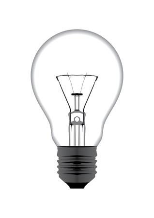 light bulb isolated on white illustration background Vector