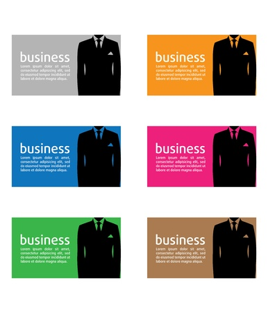 Business card illustration background