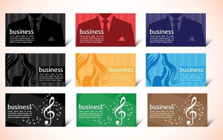 Business card illustration card