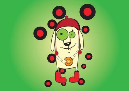 Illustration cute cartoon character. Vector