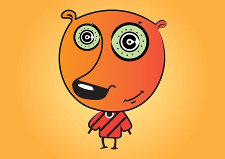 Illustration cute cartoon monster Vector