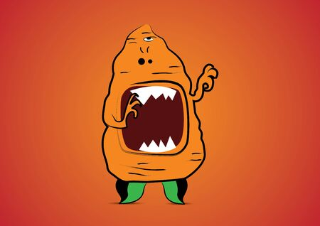 Vector illustration  Cute cartoon monster Vector