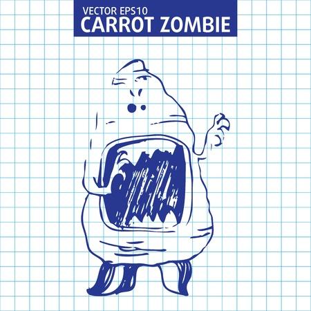Vector illustration  Cute cartoon monster sketch Stock Vector - 13500756