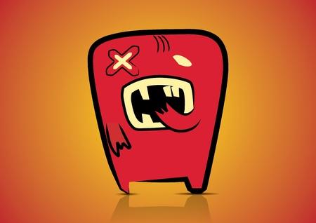 Vector illustration  Cute cartoon monster Stock Vector - 13500753