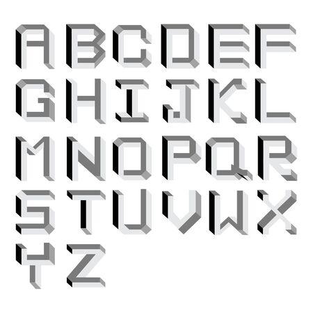 Vector impossible Alphabet.  Type Illustration