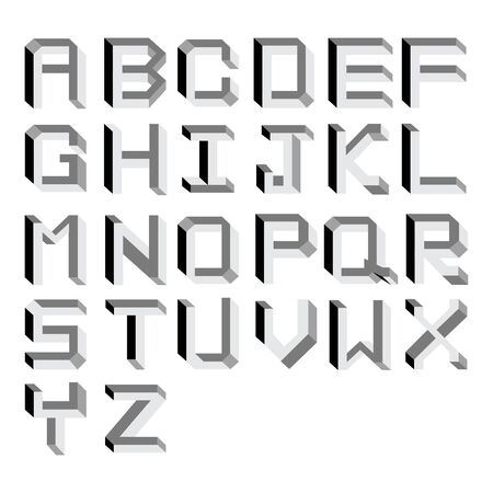 Vector impossible Alphabet.  Type Illustration