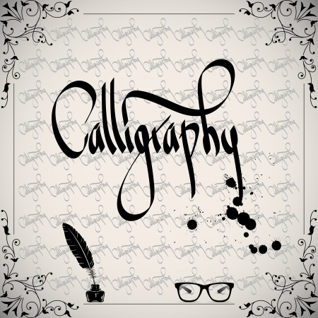 Calligraphic elements - black design vintage Vector