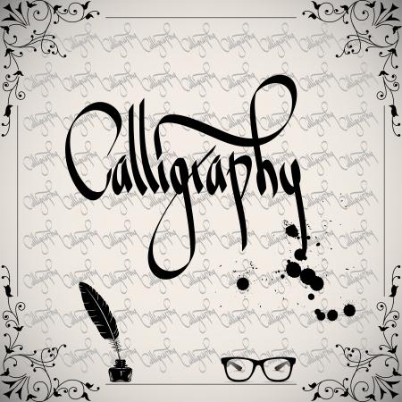 Calligraphic elements - black design vintage Vector