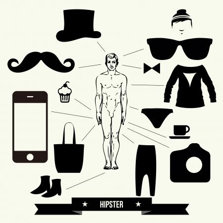 Vintage design elements set - vector illustration